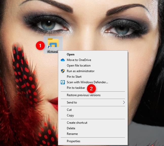 Anclar el acceso directo de red a la barra de tareas