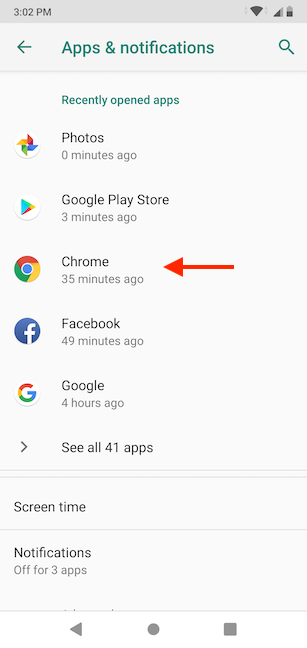 Tap on a Google Play Store app