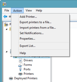 Print Management Console - Administrative Tools