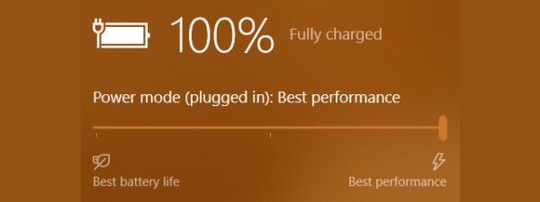 Battery settings