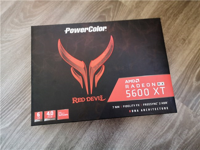 PowerColor Radeon RX 5600 XT Red Devil: The box