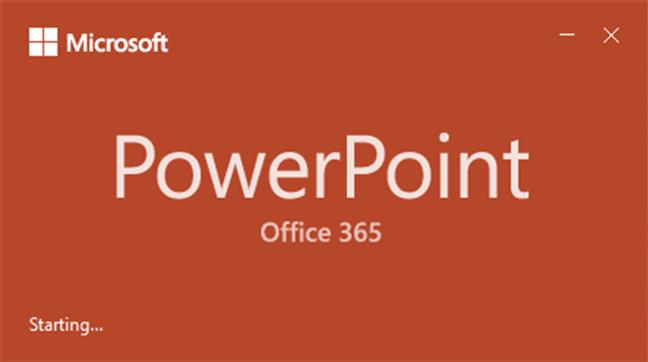 Loading PowerPoint in Office 2019
