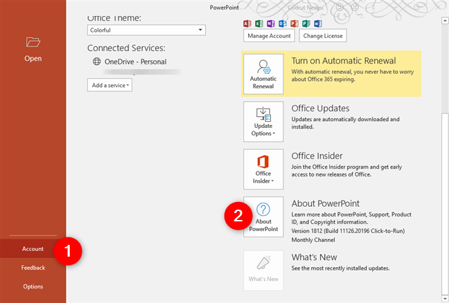 About PowerPoint in Microsoft Office 365