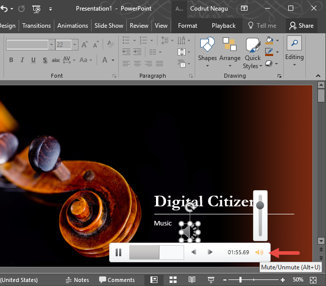 PowerPoint, audio, insert