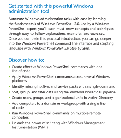 Windows PowerShell 3.0 First Steps, book, review, Ed Wilson