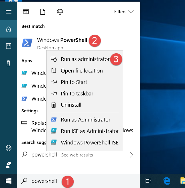 Windows 10, PowerShell, reinstall apps