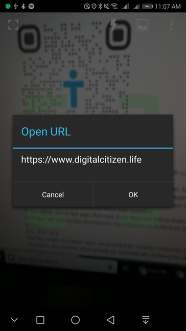 QR Code Reader from Scan