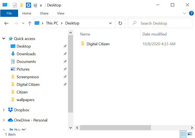 Get more screen space by minimizing File Explorer's ribbon