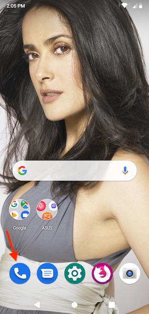 Access the Phone app