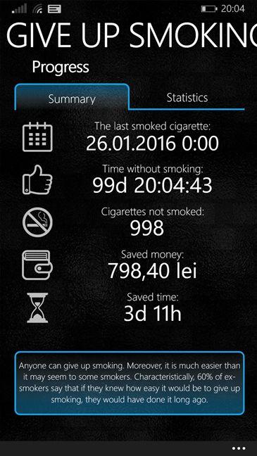 quit, smoking, apps, free, Windows 10 Mobile, Windows Phone