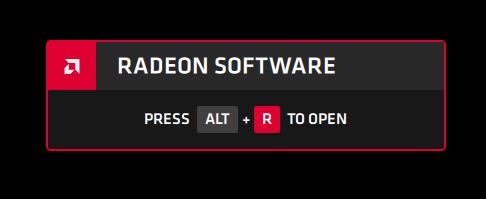 Superposición ALT + R de Radeon Software