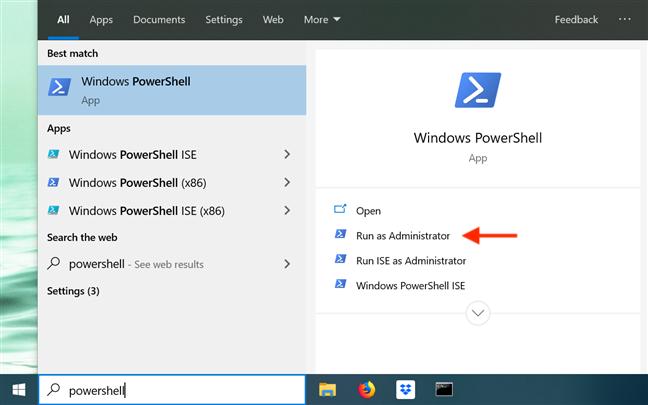 Open PowerShell from your taskbar