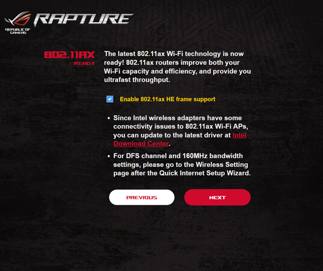Enabling Wi-Fi 6 on the ASUS ROG Rapture GT-AX11000