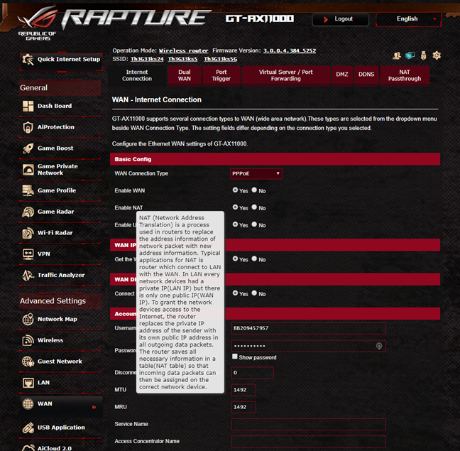 The Help documentation offered by ASUS ROG Rapture GT-AX11000