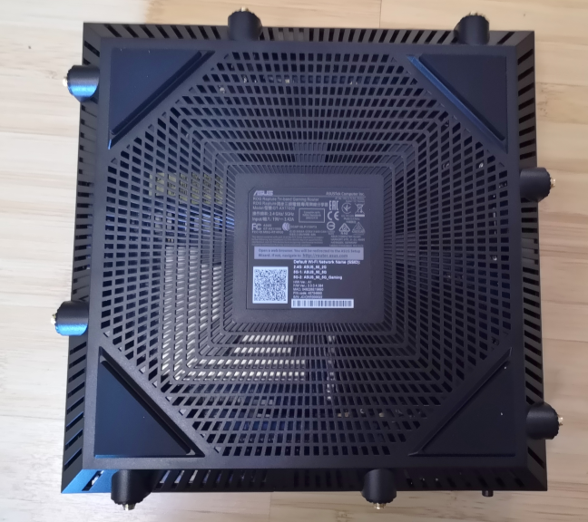 The bottom of the ASUS ROG Rapture GT-AX11000