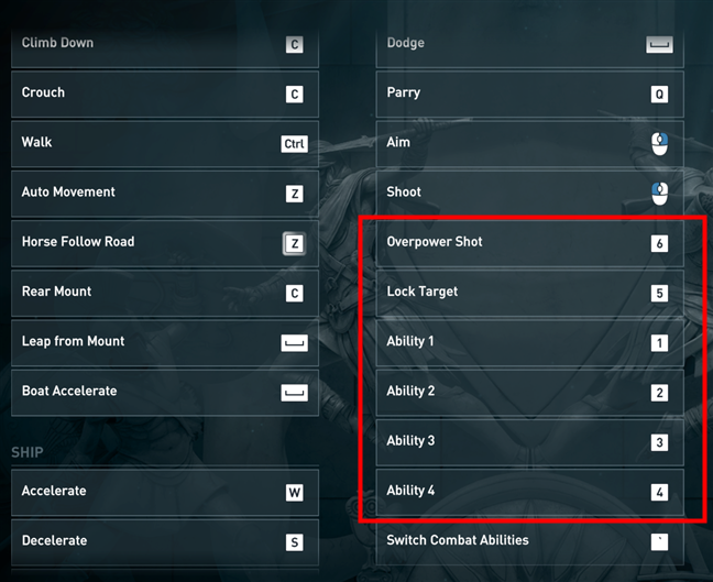 Assigning the mouse side buttons to various actions in a game