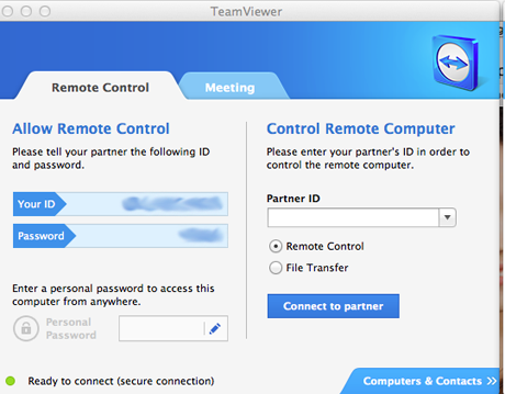 Remote Desktop Connection - Mac OS X to Windows - TeamViewer