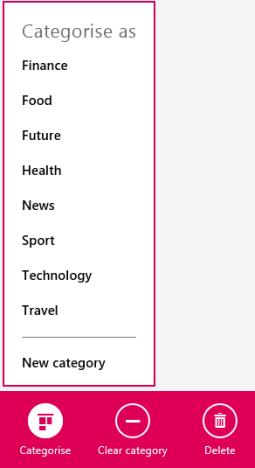 Windows 8.1, reading list, app, read later, add, content, categorize