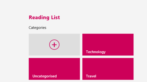 Windows 8.1, reading list, app, read later, add, content, categorize
