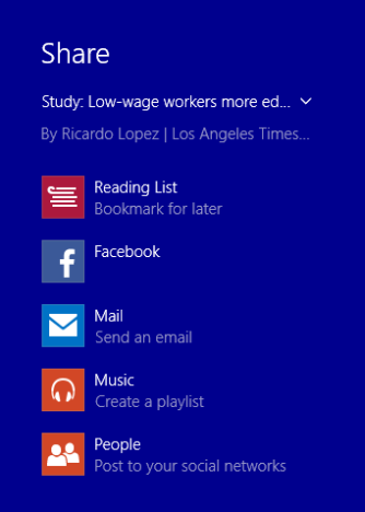 Windows 8.1, reading list, app, read later, share, content, synchronize