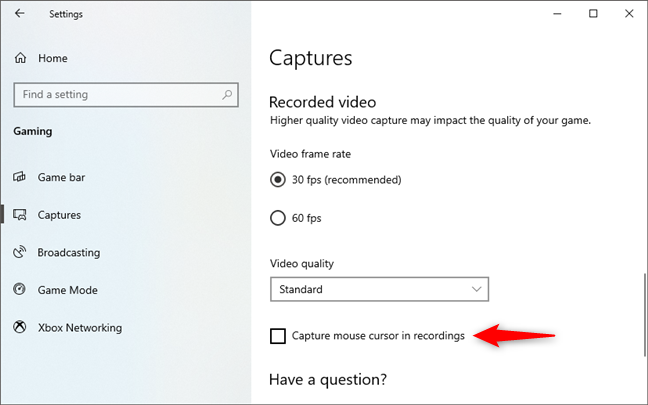 Capture mouse cursor in gameplay recordings