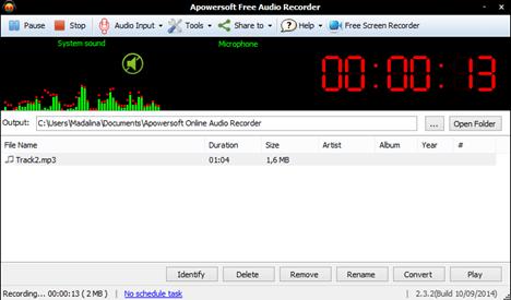 Sound Record, alternative, Apowersoft Audio Recorder
