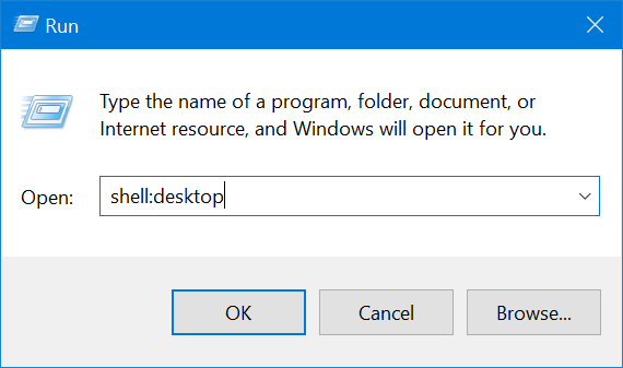 Use the Run window to access the Recycle Bin