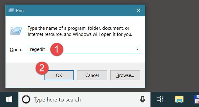 Windows, Registry Editor, Regedit