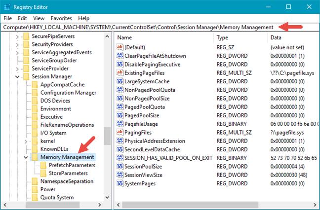 Windows 10, Registry Editor, Address bar