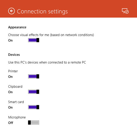 Windows 8.1, remote, desktop, app, connections