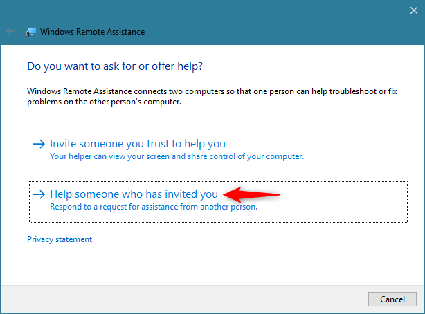 Using Windows Remote Assistance to Help someone who has invited you
