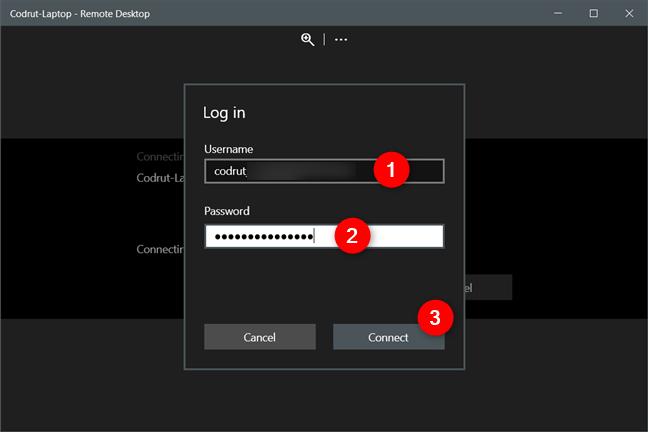 Conexión a una computadora de escritorio remota