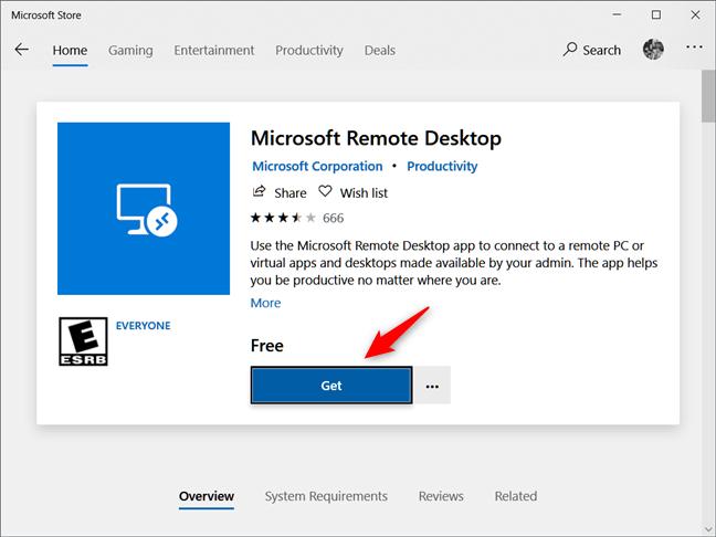 Instalación del cliente de escritorio remoto de Microsoft