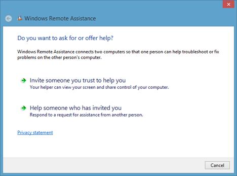 Windows Remote Assistance, Remote Desktop Connection