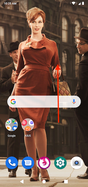 Swipe up from the Home screen to open All Apps