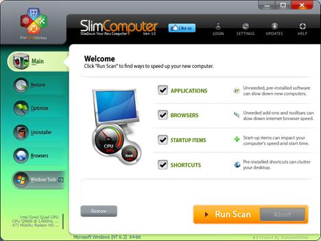 SlimComputer, Windows, remove, crapware