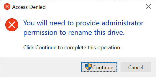 The Access Denied prompt
