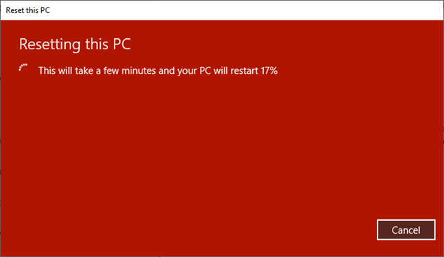 Resetting this PC