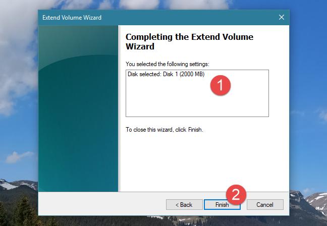 Windows, resize partition, Disk Management