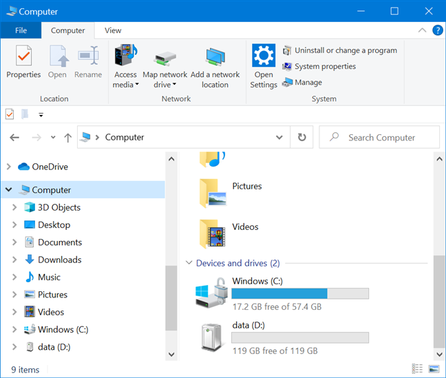 The new name replaces the old one in File explorer