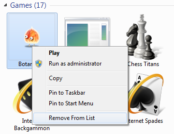Games Folder in Windows 7