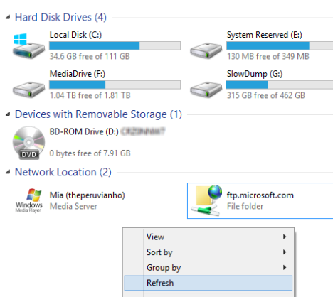 Remove Network Locations Mapped as Drives in Windows 8