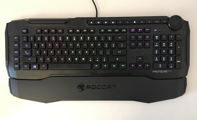 The illumination zones on the ROCCAT Horde AIMO keyboard