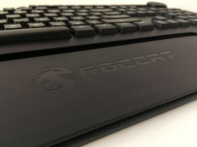 The palmrest of the ROCCAT Horde AIMO keyboard