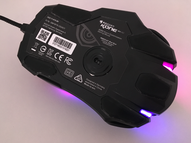 The bottom of the ROCCAT Kone AIMO