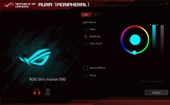 ASUS ROG Strix Fusion 500 RGB 7.1, gaming, headset
