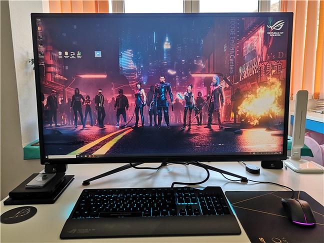 The ASUS ROG Swift PG43U gaming monitor