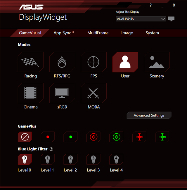ASUS DisplayWidget