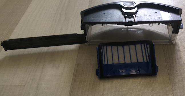 The Dust Bin and Filter of the iRobot Roomba 605 /606