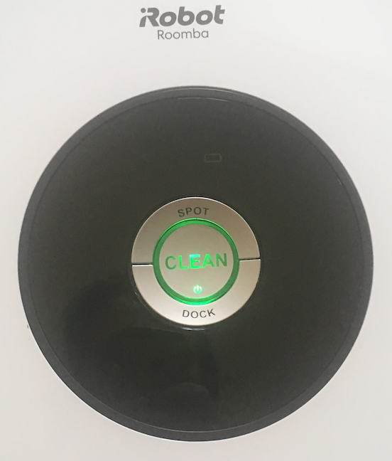 The function buttons for the Roomba 605